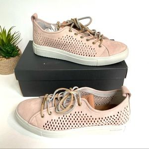 Blackstone perforated leather sneaker rose dust 41